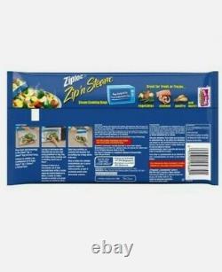 10 Ziploc Zip N Steam Cooking Microwave Bags 10pk Medium Ziplock Meal 100Bags