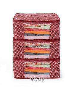100 PC Oneside Clear Plastic Clothes Sari Saree Garment Storage, cover Bags 7