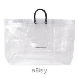 dd1a2e1c60c4 100% Authentic Bnwt Comme Des Garcons Clear Tote Bag Black Logo Plastic  Vinyl