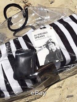 100% authentic BNWT COMME DES GARCONS clear tote bag black logo plastic vinyl