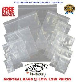 100 x GRIP LOCK SEAL SMALL Size RE-SEALABLE PLASTIC BAGS COIN JEWELLERY