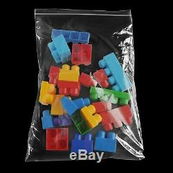 1000 14 x 24 Small Clear Plastic Zipper Poly Locking Reclosable Bags 4 Mil
