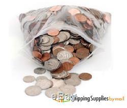 1000 PCS 12 x 12 Plastic Zip Zipper Ziplock Reclosable Storage Clear Bags 4 Mil