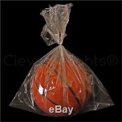 1000 Pack 18x24 Clear Poly Bags 2 mil Open Flat Plastic Bag Food Safe