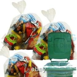 1000 x Large CLEAR Refuse Sacks Bin Liner Rubbish Bags thick 160g 18x29x39