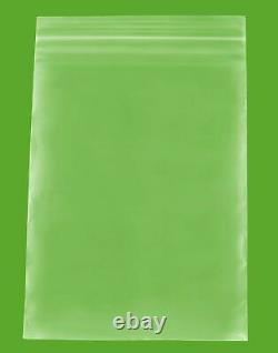 10000 Clear 2 Mil Reclosable Plastic Top Seal Poly Bags 6x8 Jewelry Baggies