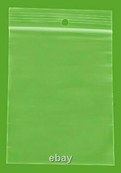 10000 PCS Clear Reclosable Plastic Zip Lock Bags Resealable Zipper 3 x 4 4 Mil