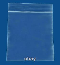 10000 PCS Clear Reclosable Plastic Zip Lock Bags Resealable Zipper 4 x 4 4 Mil