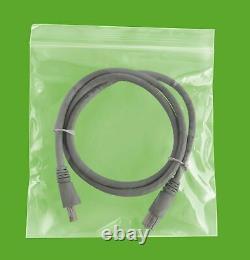 10000 PCS Clear Reclosable Plastic Zip Lock Bags Resealable Zipper 6 x 6 4 Mil
