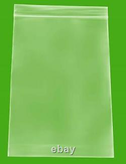 10000 PCS Clear Reclosable Plastic Zip Lock Bags Resealable Zipper 6 x 9 2 Mil