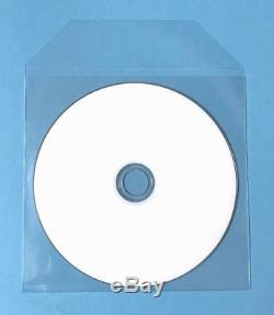 100000 CD DVD Thin CPP Clear Plastic Sleeves with Flap Bag Envelope 60 micron