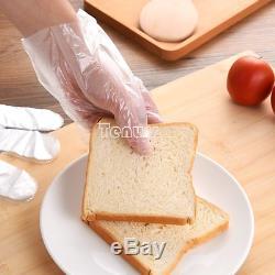 100PCS/bag Food Plastic Gloves Disposable Gloves for Restaurant Kitchen BBQ