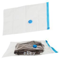 10Pcs Vacuum Storage Bag For Clothes Saving Bag Vaccum Pack Saver 100x80cm UKED