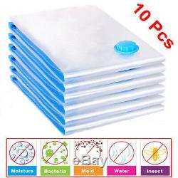 10Pcs Vacuum Storage Bag For Clothes Saving Bag Vaccum Pack Saver 90x50cm UKDC