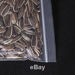 10X100 Pcs Plastic Ziplock Bags Jewelry Zipper Zip Lock Plastic Bags for F H4U9
