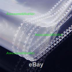 12 2/5 x 16 1/8 Clear Poly T Shirt Plastic Bags 1.5 mil Resealable 100-1000 New