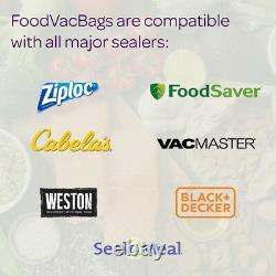 12 Expandable FoodSaver Compatible Vacuum Sealer Bags 11x50' Heat Seal Rolls