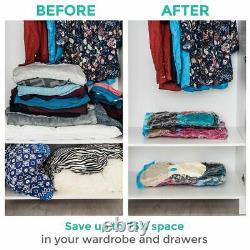 12 Variety Jumbo Vacuum Storage Bags Space Saving Compressed Bags Free Hand Pump