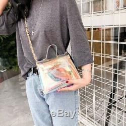 15X(Candy Female Fashion Jelly Transparent Tote Bag Plastic Shoulder Bag Bu 2U9)