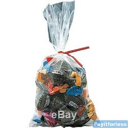 15x36 2 Mil Clear Flat Food Grade Plastic Poly Bags 500