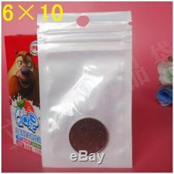1800Pcs/Lot 610cm White/Clear Self Seal Zipper Plastic Retail Storage Bag, Zipl