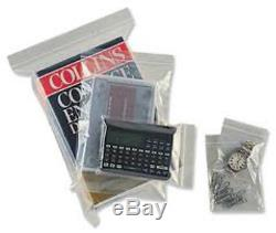 20,000x Grip Seal Bags 4.5x4.5 / 114x114mm Clear Plastic Resealable Pouches
