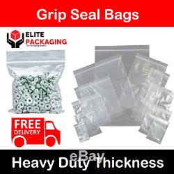 2000 XL LARGE GRIP PRESS SEAL BAGS 13 x 18 CLEAR PLASTIC FOOD SUITABLE POUCHES