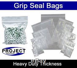2000 XL LARGE GRIP PRESS SEAL BAGS 15 x 20 CLEAR PLASTIC FOOD SUITABLE POUCHES