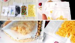 2000 Ziplock 4.25x7.5 Clear Plastic White Bags 4.25 x 7.5 Wholesale Lot