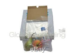 2000 x HEAVY DUTY 20x30 CLEAR POLYTHENE FOOD USE APPROVED BAGS 200 GAUGE 24HR
