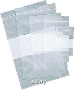24000 Pcs 3 x 4 4 Mil White Block Reclosable Plastic Writable Zipper Bags