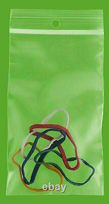 24000 Pcs Resealable Zipper Plastic Shipping Bags with Hang Hole 3 x 5 4 Mil
