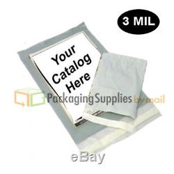 3000 14.5x19 3 Mil Clear View Poly Mailers Self Seal Plastic Envelopes Bags