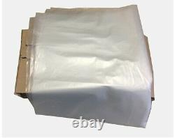 35 x 70 HEAVY DUTY EXTRA LARGE CLEAR PLASTIC POLYTHENE RUBBLE BAGS