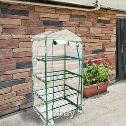 4/ 5 Tier Mini Greenhouse Walk In Grow Bag Replacement PVC Cover Plastic Garden