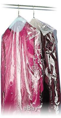 40 21x7 Crystal Clear Plastic Dry Cleaning Poly Garment Bags 600 / Roll