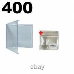 400 STANDARD CD Jewel Case (Carton Only, NO Trays) & 500 OPP Plastic Wrap Bag