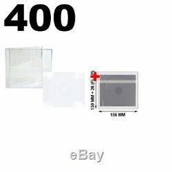400 STANDARD Clear CD Jewel Case (Unassembled) & 100 OPP Plastic Wrap Bag