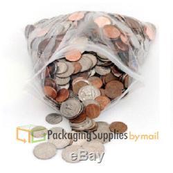500 PCS 24 x 24 Plastic Clear Zip Zipper Ziplock Reclosable Storage Bags
