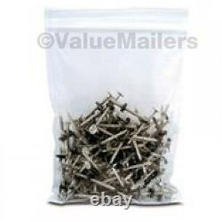 5000 5x8 Clear Plastic Zipper Poly Locking Reclosable Bags 2 MiL