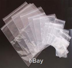 5000 6x9 Clear Grip Self Press & Seal Resealable Zip lock Plastic Bag poly plain