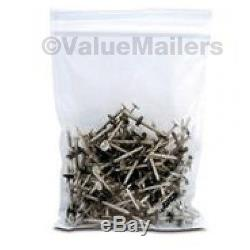 5000 8x10 Clear Plastic Zipper Poly Locking Reclosable Bags 2 MiL