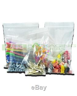 5000 LARGE A4 9 x 12.75 CLEAR GRIP SEAL GRIPSEAL PLASTIC RESEALABLE BAGS NEW