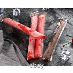 50X Summer Ice Pop Zip Lock Reusable Pouch Seal Freezer Bags DIY Ice Cream Mould