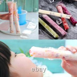 50pcs Novelty DIY Ice Cream Freezer Pop Zip Lock Pouches Seal Bags Ice Mould