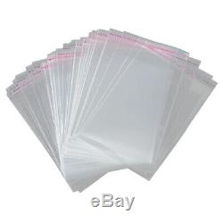 5X(100x A3 package Bag 45x32cm Clear Resealable Plastic Self Seal Adhesive B6O1)
