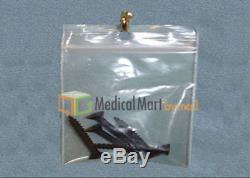 6 x 6 Clear Hang Hole Pharmacy Zipped 2 Mil Ziplock Plastic Bags 8000 Baggies