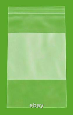 6 x 6 Zip Lock White Block 4 Mil Thick Resealable Transparent Bags 4000 Pieces