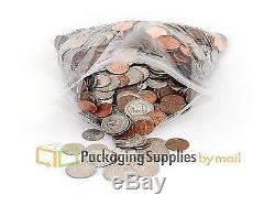 6 x 8 Reclosable ZIP LOCK CLEAR PLASTIC BAGS FOR SMALL ITEMS 5000 PCS