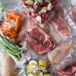 600 QUART 8x12 Bags Food Magic Seal for Vacuum Sealer Food Storage Bags